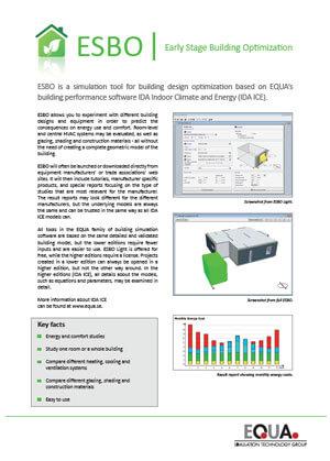 ESBO - Simulation Software | EQUA